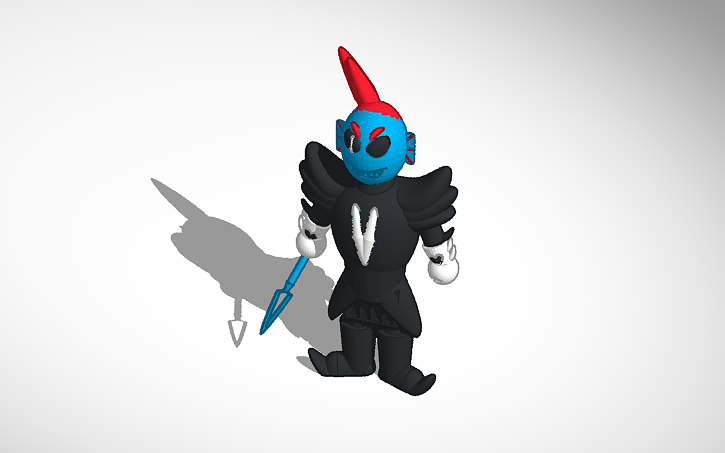 3D design undertale undyne the undying   Tinkercad