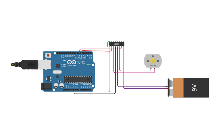 Circuit design dc motor(speed control)VIA PWM(pulse width