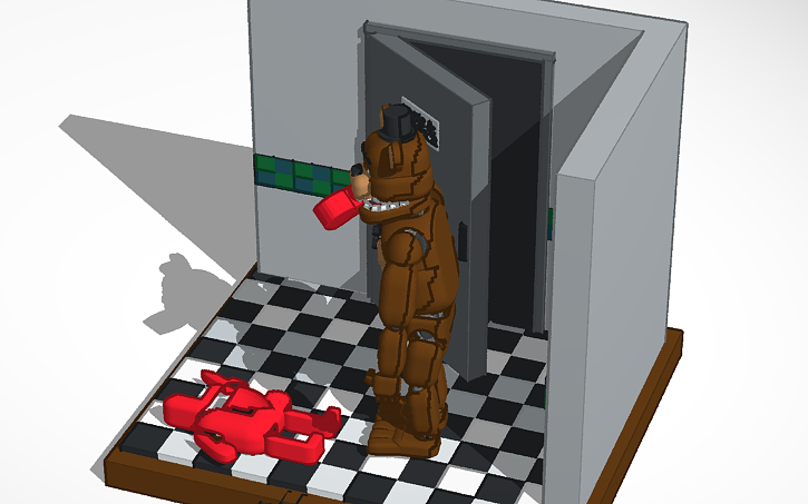 3D design WITHERED FREDDY! | Tinkercad