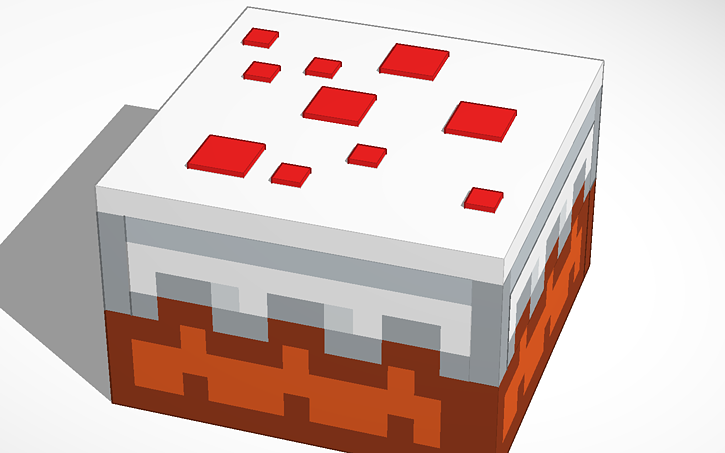 Minecraft Cake Tinkercad