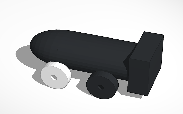 Pine Wood Derby Car Bullet Bill Tinkercad