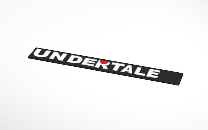 3d design undertale logo tinkercad