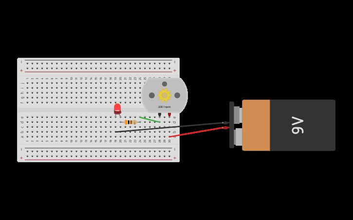 Circuito Serie : Circuit design circuito en serie con motor y led tinkercad
