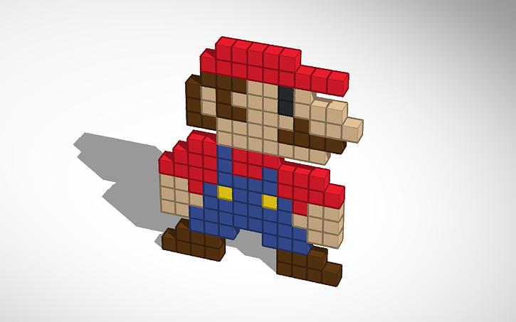 3D design 2d Mario from Super Mario World | Tinkercad