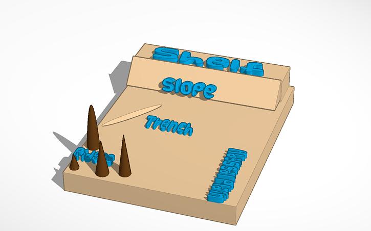 Ocean Floor diagram | Tinkercad