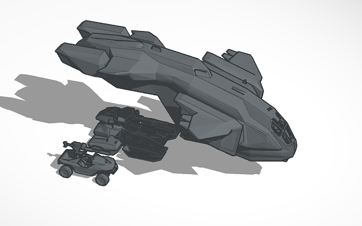 3D design halo ship | Tinkercad