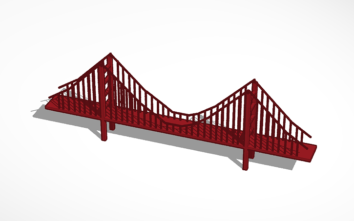3d design golden gate bridge tinkercad Tinkercad 3d