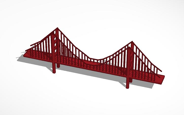 3d design golden gate bridge tinkercad Tinkercad 3d