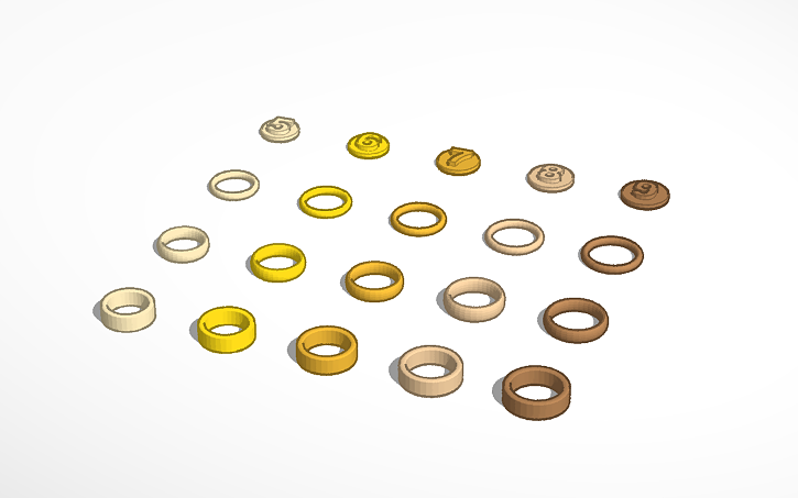 3D design Ring #template | Tinkercad