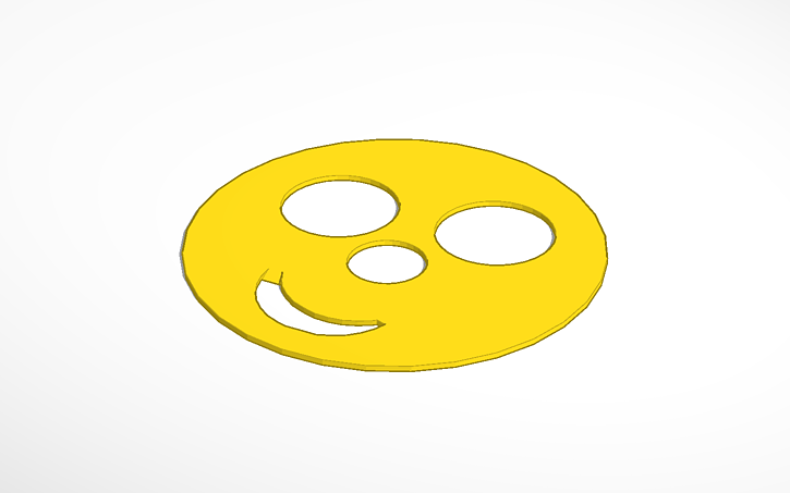 3d Design Smiley Face Stencil Template Tinkercad