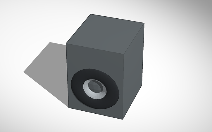 3d Design Home Theater Subwoofer Box Tinkercad