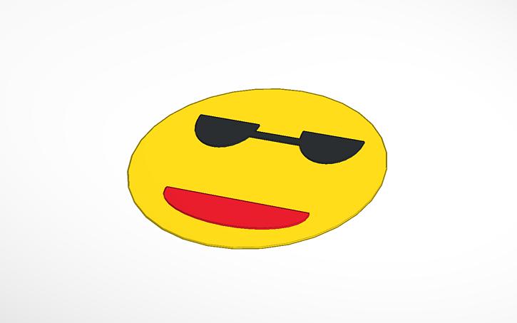 3d design cool guy emoji tinkercad