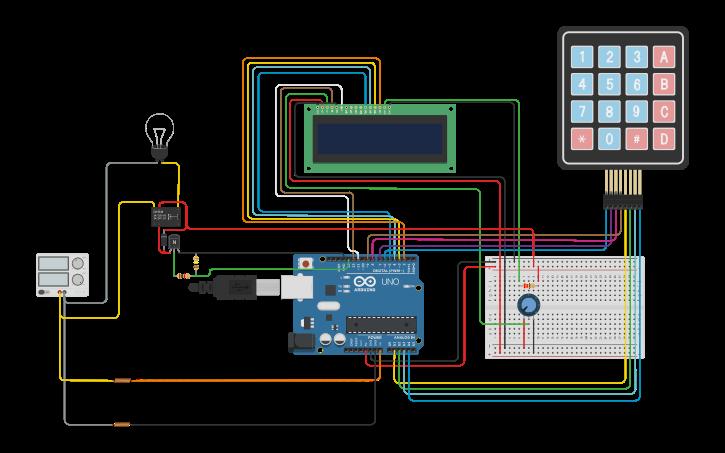 Circuit design Arduino 4x4 Keypad Password with EEPROM Saving