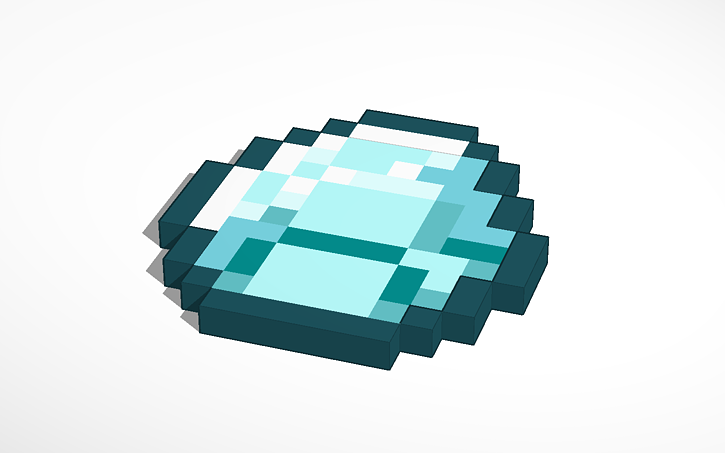 3d Design Minecraft Pixelart Diamond Minecraft Tinkercad