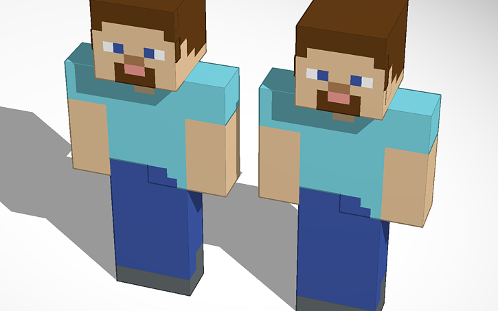 3D design Steve in minecraft mikail  Tinkercad