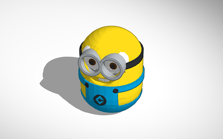 3d Design Fat Minion Tinkercad