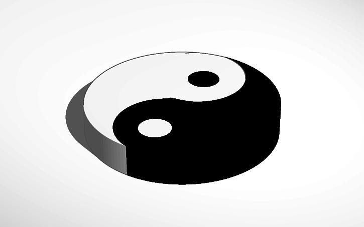 3d Design Yin Yang Symbol Tinkercad
