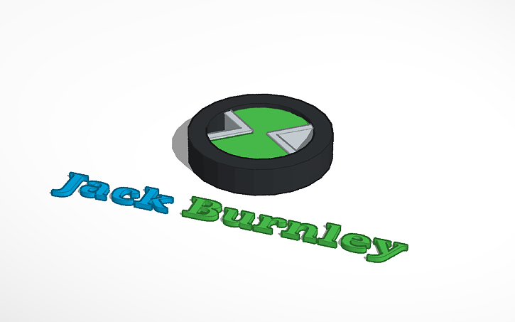 3d Design Jack Burnley Ben 10 Symbol Tinkercad