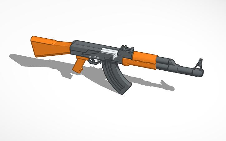 3D design AK-47 | Tinkercad