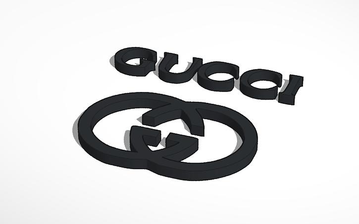 3d Design Deco Gucci Logo Tinkercad
