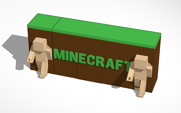 Name Tag Minecraft 3d design minecraft name tag | tinkercad