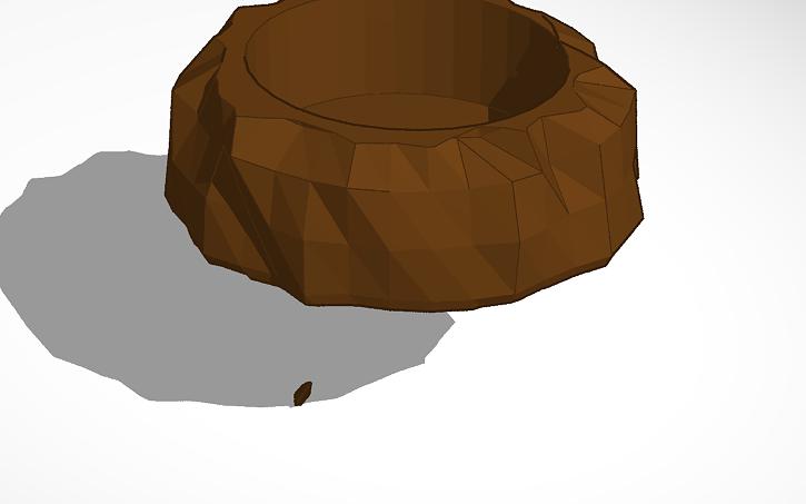 3D design rock planter for pet cages | Tinkercad