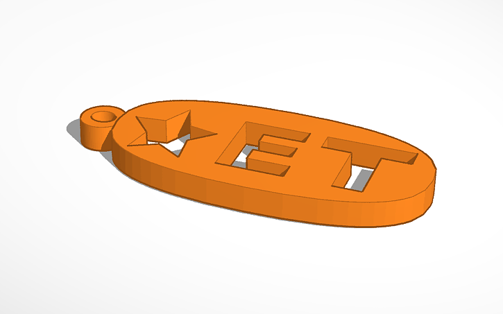 3D design Keychain name tag | Tinkercad