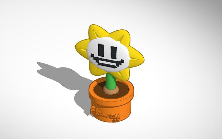 3D design Flowey (Undertale) | Tinkercad