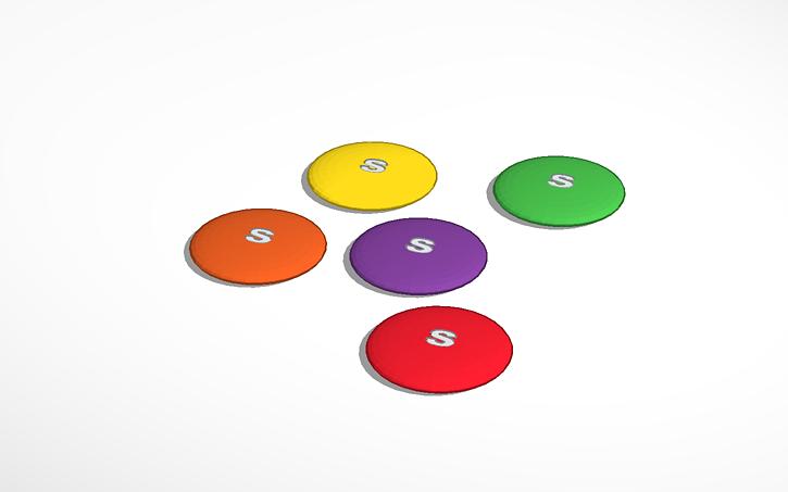 3d design giant skittles taste the rainbow tinkercad