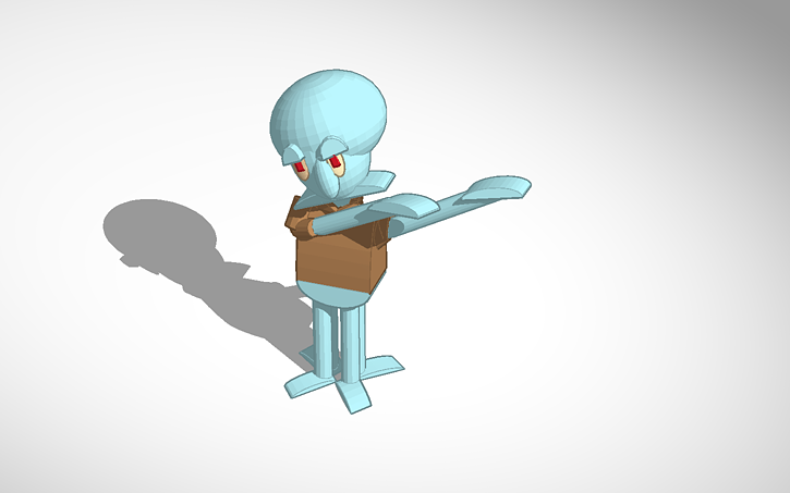3d Design Squidward Dab Tinkercad