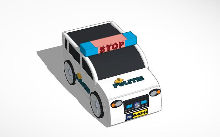 3d design dutch police car template tinkercad