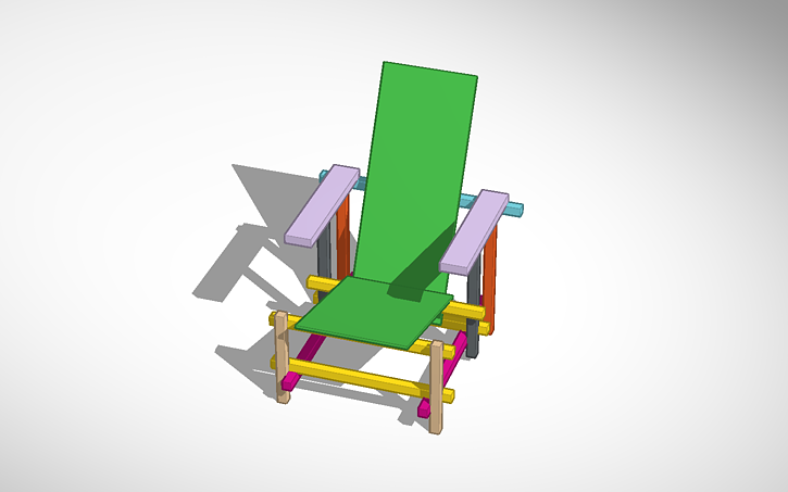 Sedia Design Rietveld.3d Design Sedia Rietveld Tinkercad