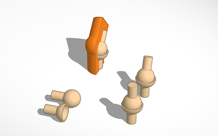 3d design ball & socket joint | tinkercad, Human Body