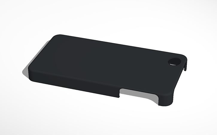 3D design iPhone 4s Case Template   Tinkercad