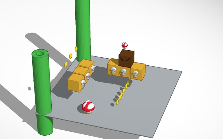 3D design super mario world (2) | Tinkercad