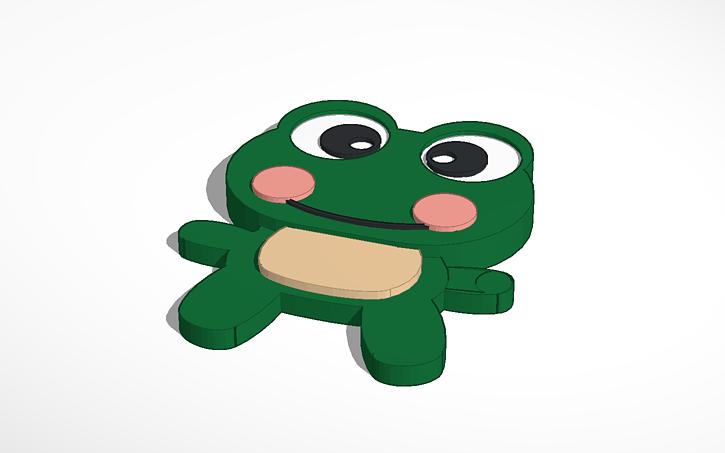3d Design Frog Tinkercad