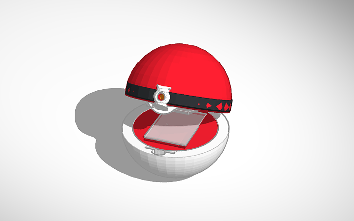 3d Design Pokeball Card Holder V2 Tinkercad