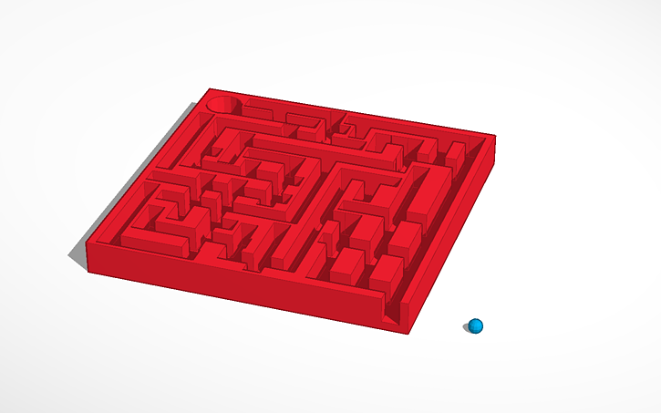 3D design Square Maze | Tinkercad