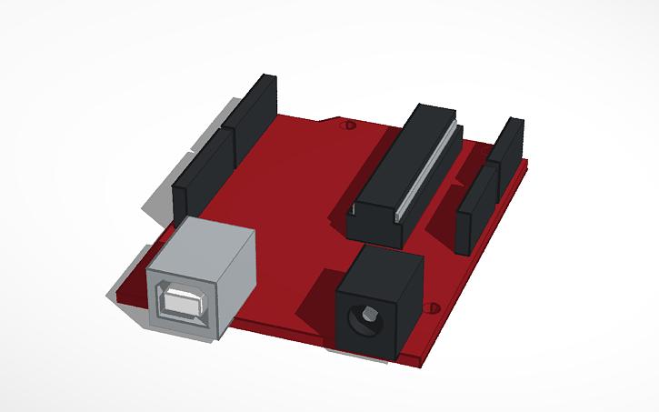 3D design Arduino Uno R3 | Tinkercad