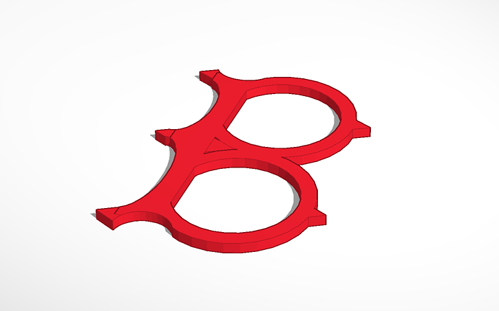 3d Design Boston Red Sox Logo Tinkercad