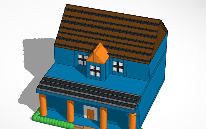 3D design tinkercad challenge-school project make a house