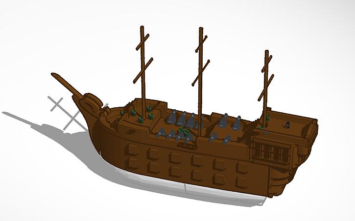 3D design pirate ship | Tinkercad