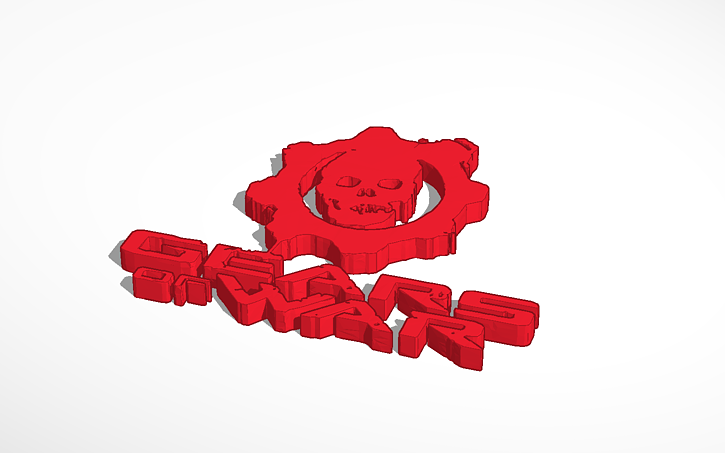 3d design gears of war logo text tinkercad jpg gif or png image that is under 5mb voltagebd Choice Image