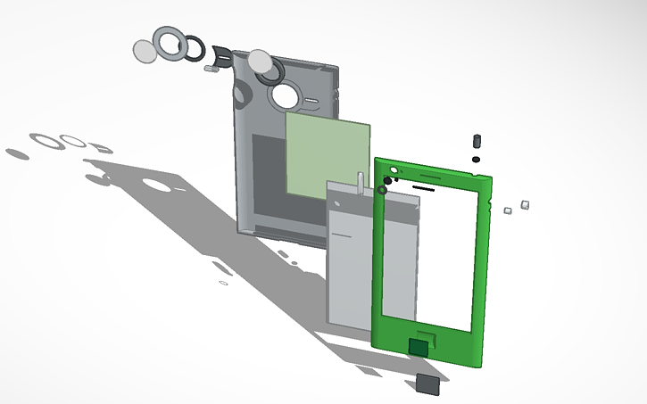 3d Design Smart Phone Exploded View Phone Iphone Smartphone