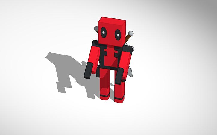 3d design deadpool minecraft skin tinkercad