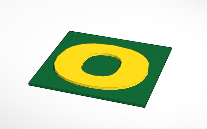 3d Design Oregon Ducks Logo Tinkercad