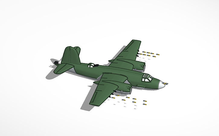3D design bomber fighting a fighter plane whos going to win