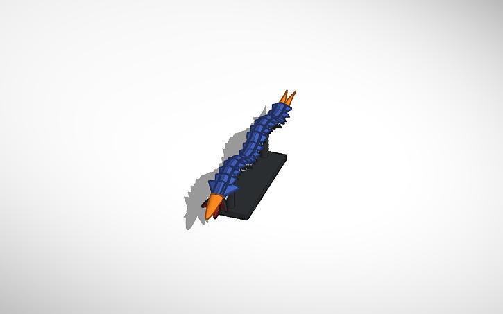 3D design Ice worm leviathan #2 (Subnautica Below Zero