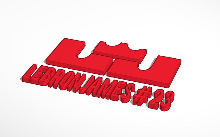 3d Design Lebron James Logo Tinkercad