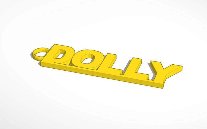 3D design porte cle dolly | Tinkercad